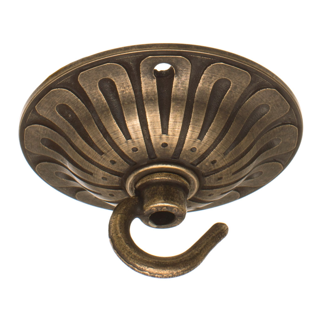 Embossed Ceiling Hook Brass Ceiling Hook Jim Lawrence