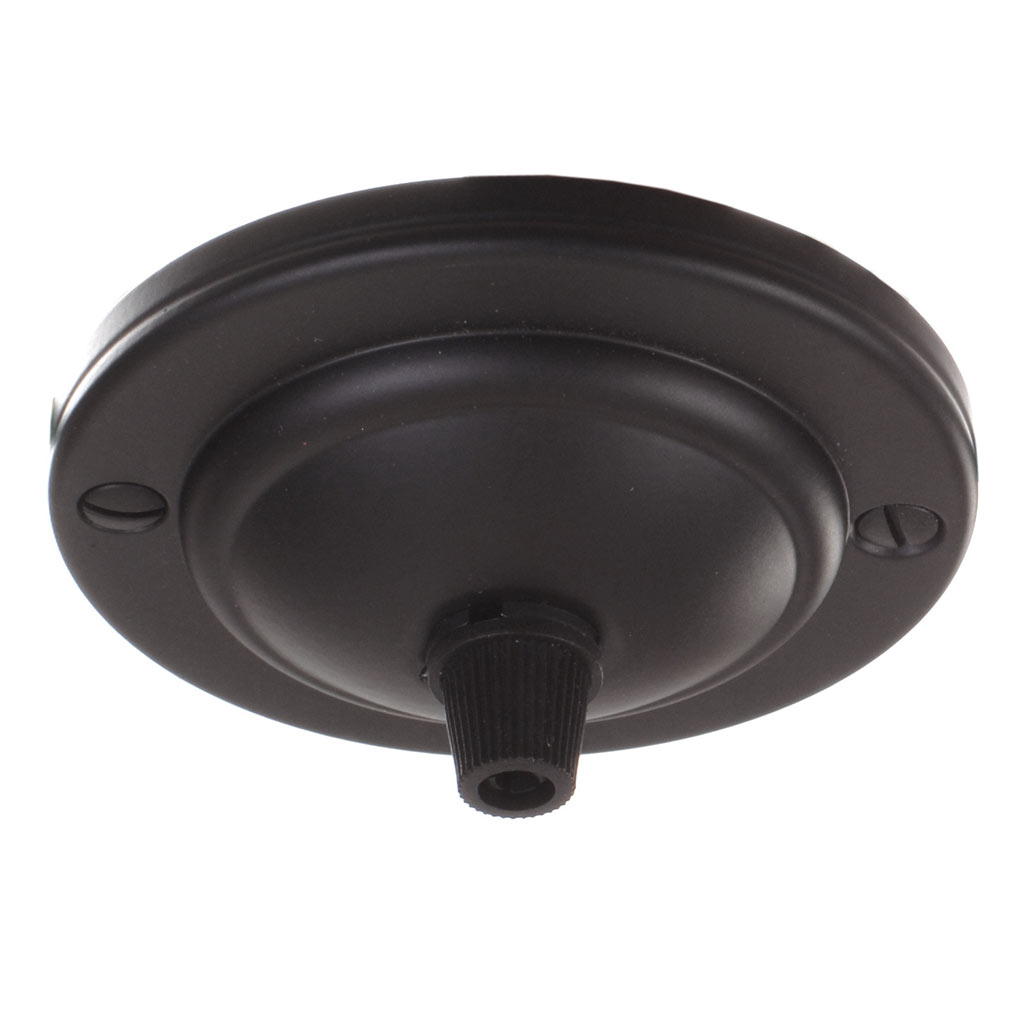 Georgian Ceiling Rose with Cable Grip in Matt Black