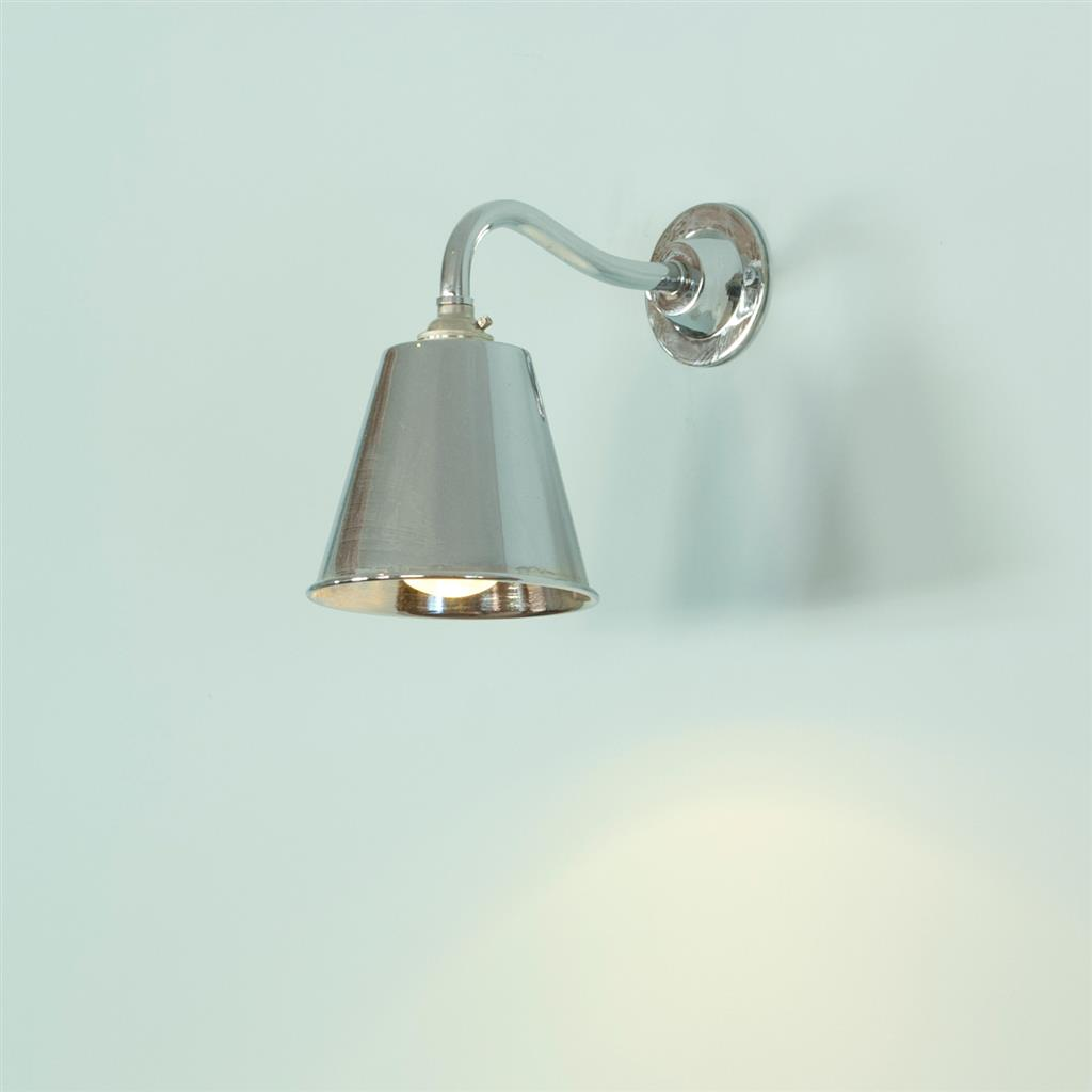 Club Wall Light in Nickel Plate