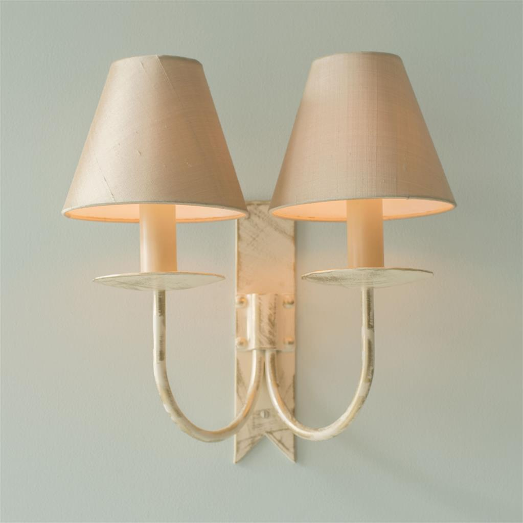 Double Cottage Wall Light in Old Ivory