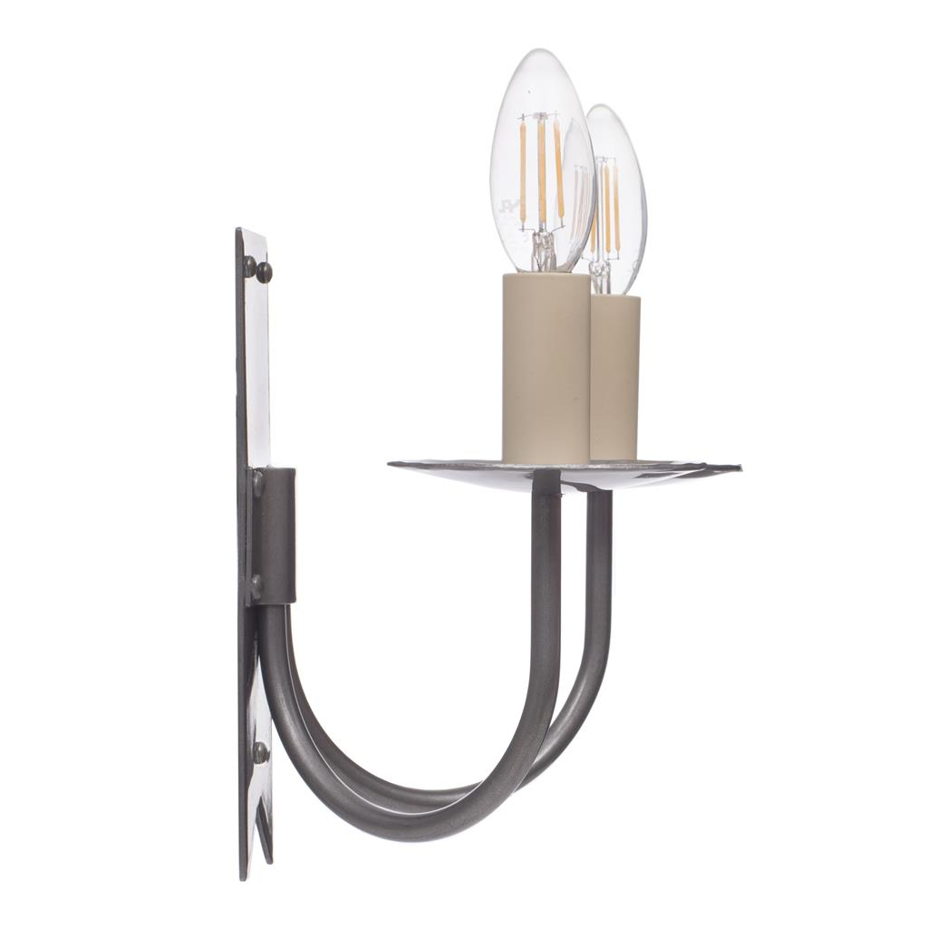 Double Cottage Wall Light in Polished