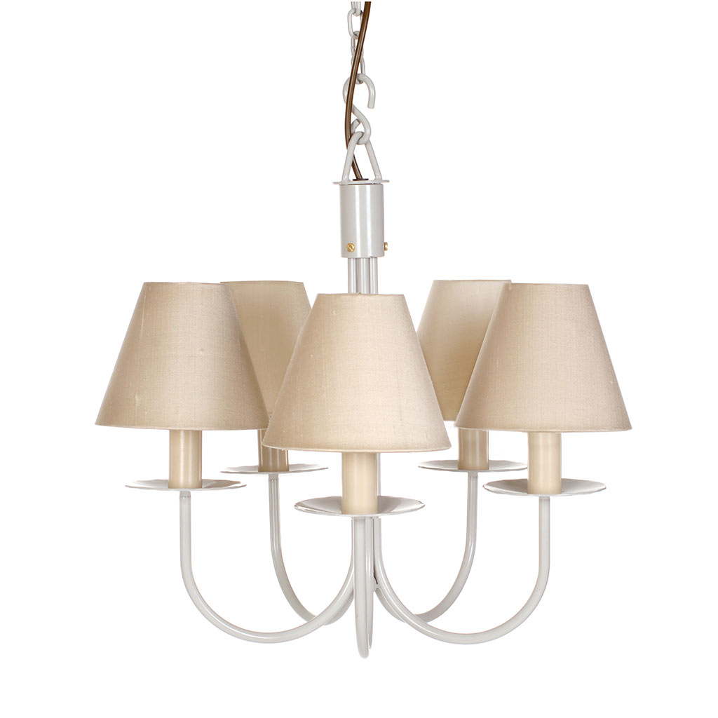 Five Arm Classic Pendant Light in Clay