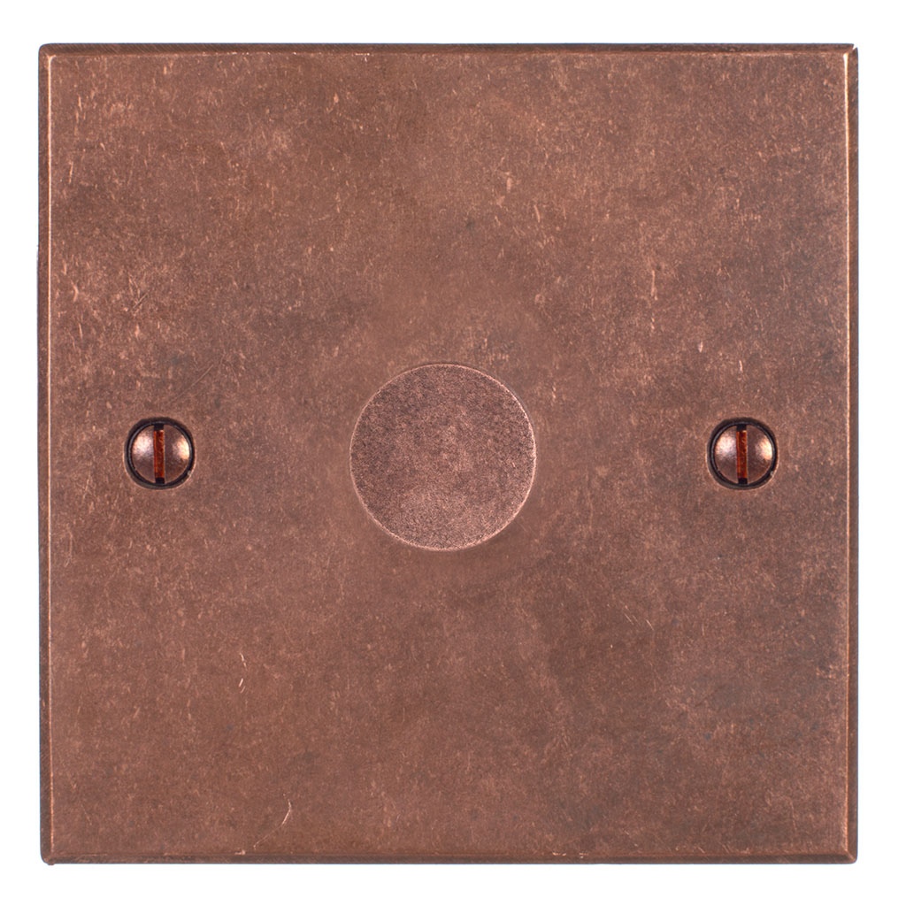 1 Gang Rotary Dimmer Heritage Copper BevelledPlate