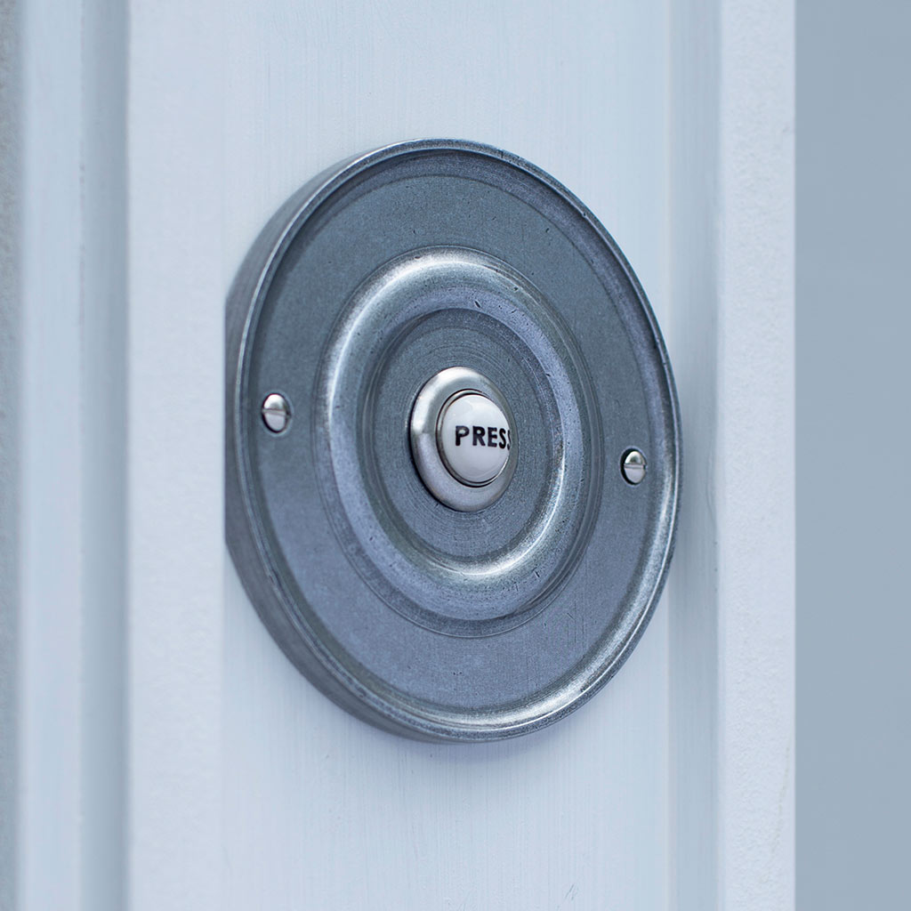 Door Bell Cover in Polished with Ceramic Bell Push