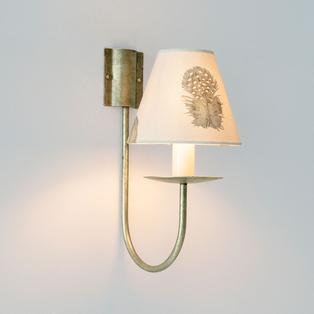 Single Classic Wall Light in Antiqued Brass