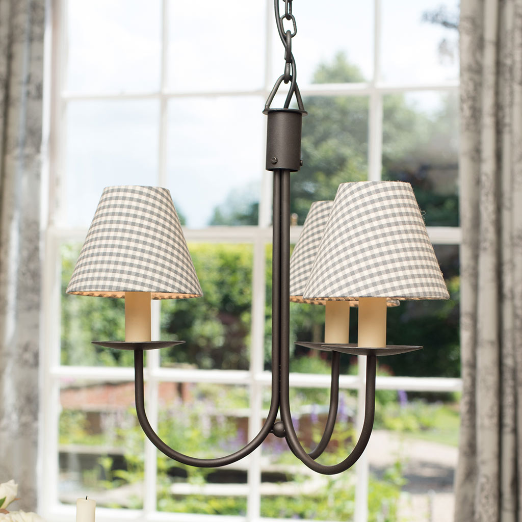Three Arm Classic Pendant Light in Beeswax
