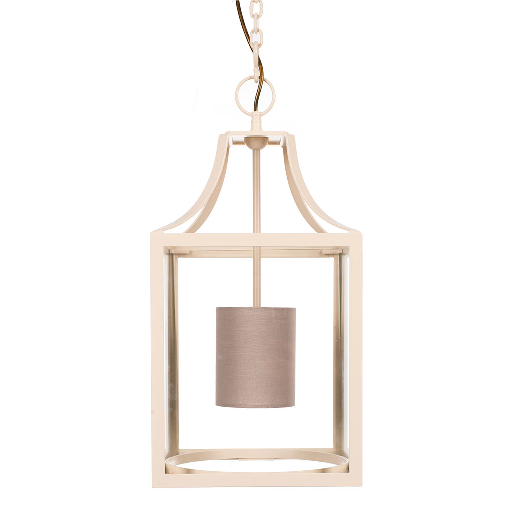 Wilton Lantern in Plain Ivory