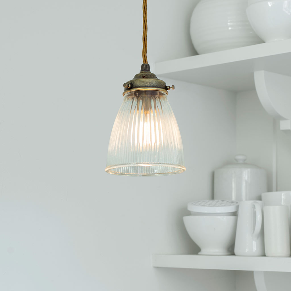 Fisher Pendant Light in Antiqued Brass