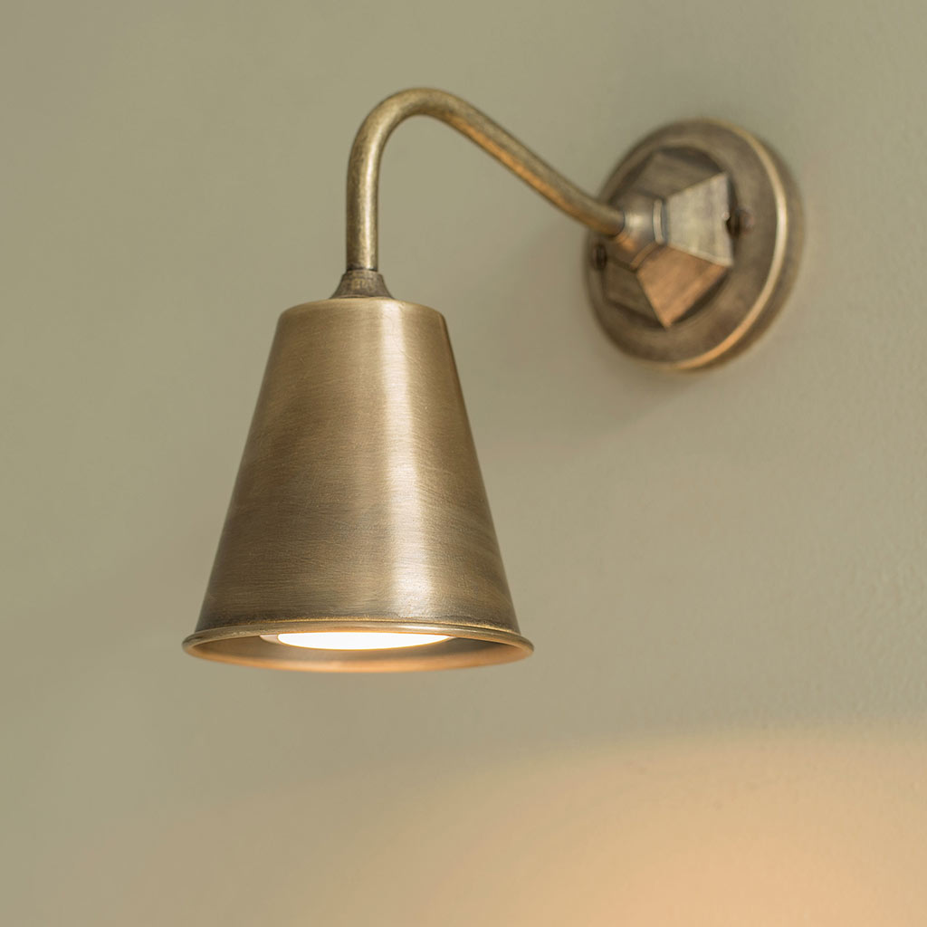 Holt Wall Light in Antiqued Brass
