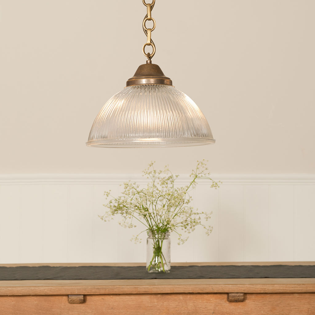 brass pendant light foster pendant with glass shade. Black Bedroom Furniture Sets. Home Design Ideas