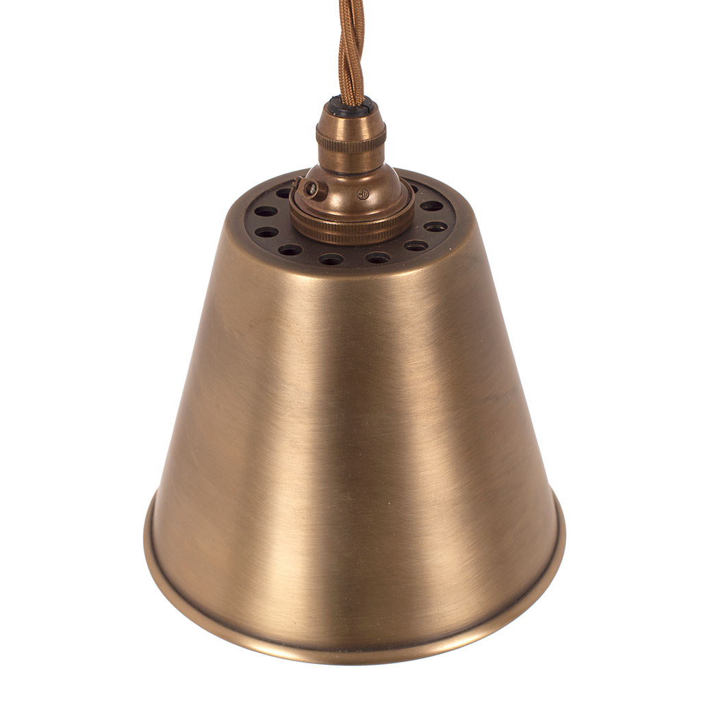 Club Pendant Light in Antiqued Brass