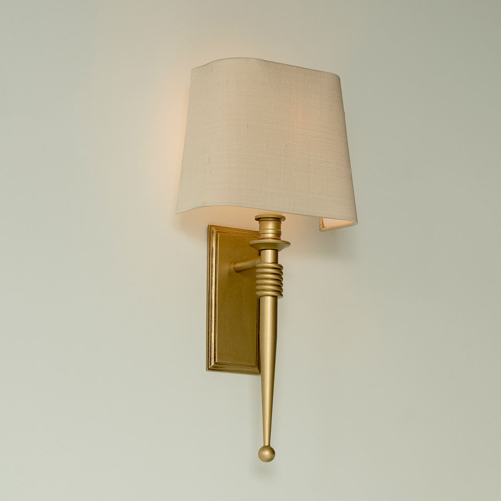 Teybor Wall Light in Old Gold