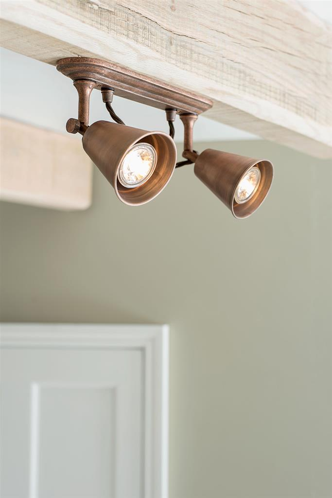 Double Curtis Spot Light in Heritage Copper