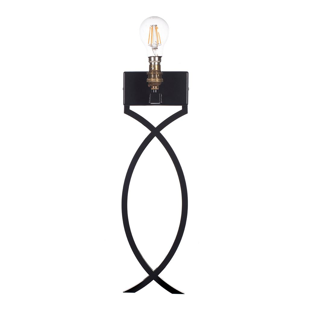 Harcourt Wall Light in Matt Black