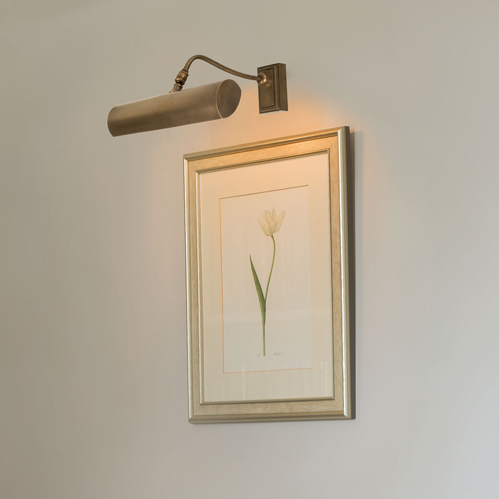 Drummond Picture Light Small (W) in Antiqued Brass