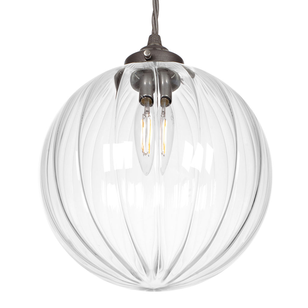 Fulbourn Glass Pendant Light in Polished