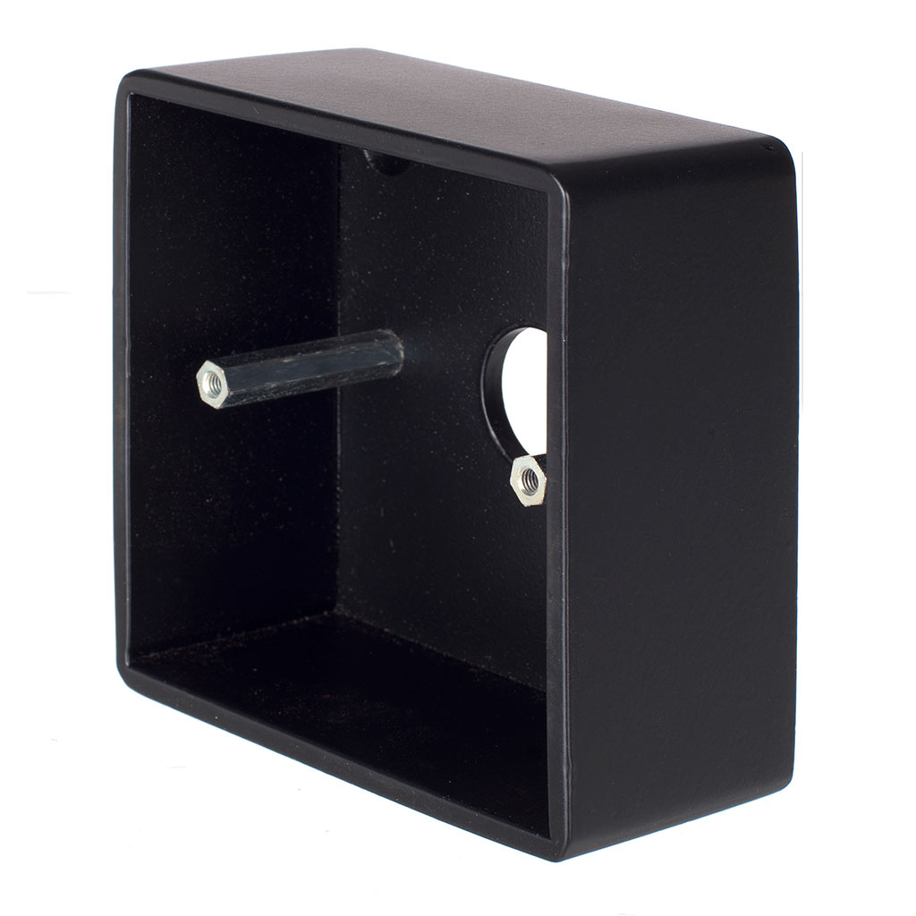 Single Surface Mounting Box in Matt Black