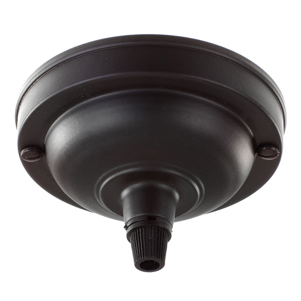 Fordham Ceiling Rose with Cable Grip in Matt Black