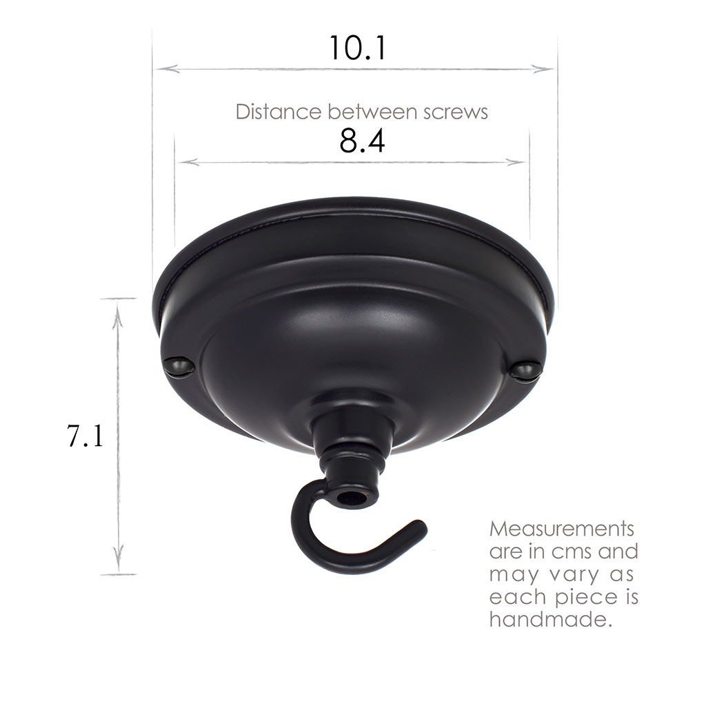 Fordham Ceiling Rose with Hook in Matt Black
