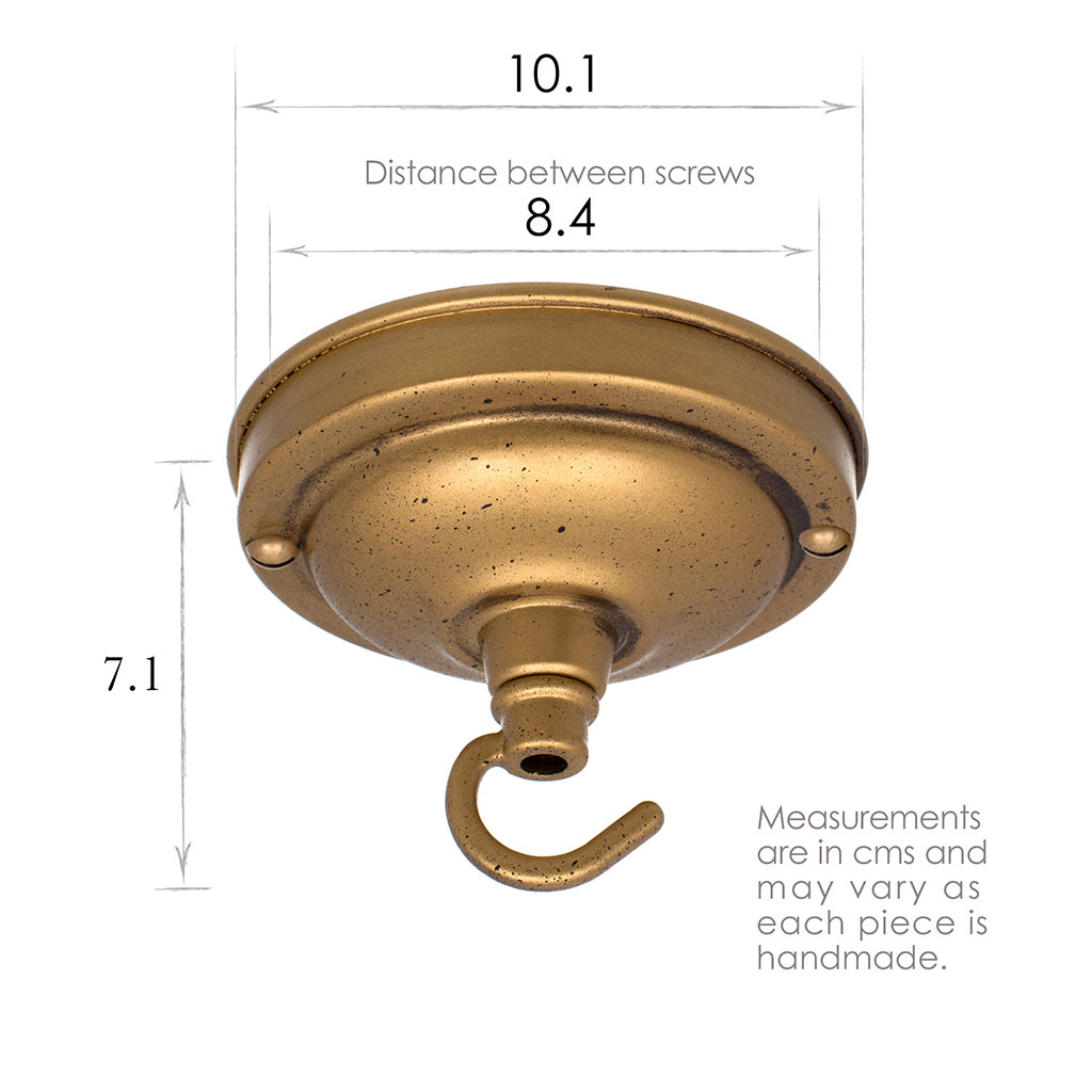 Fordham Ceiling Rose with Hook in Old Gold