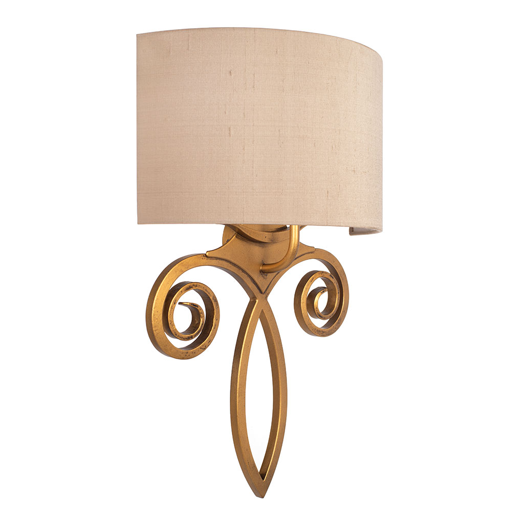 Honfleur Wall Light in Old Gold