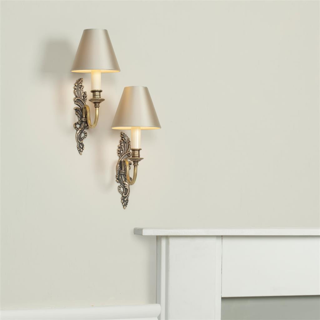 Left Handed Everleigh Wall Light in Antiqued Brass