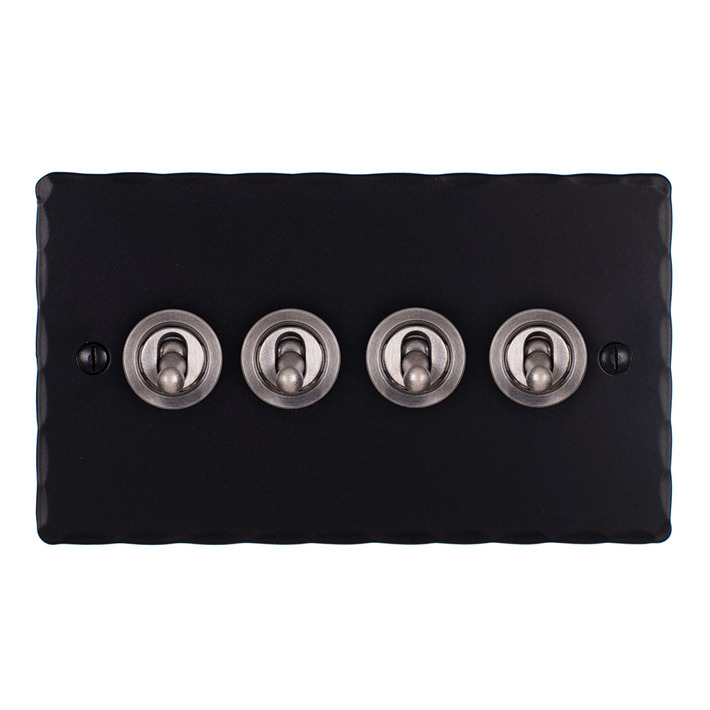 4 Gang Black Dolly Switch