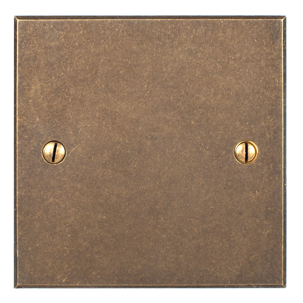 Single Blank Bevelled Plate in Antiqued Brass