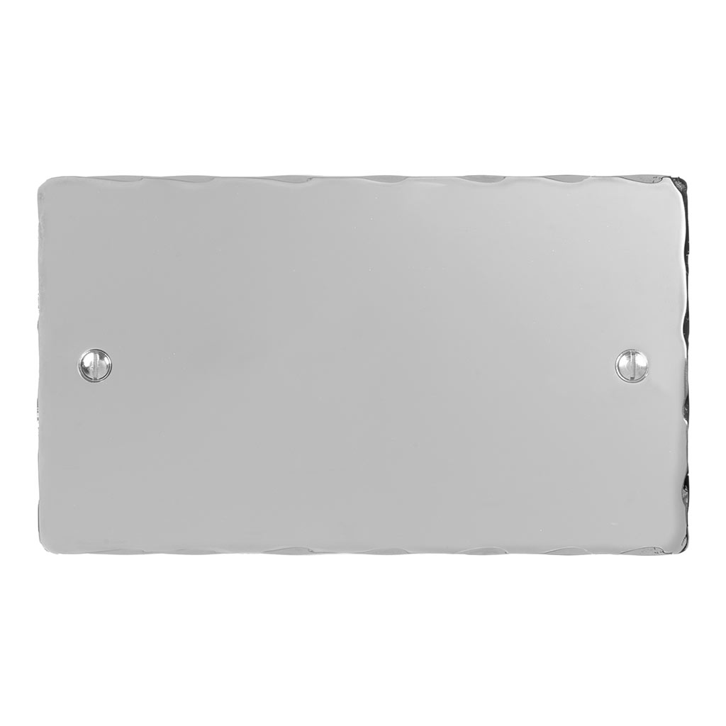 Double Blank Hammered Plate in Nickel