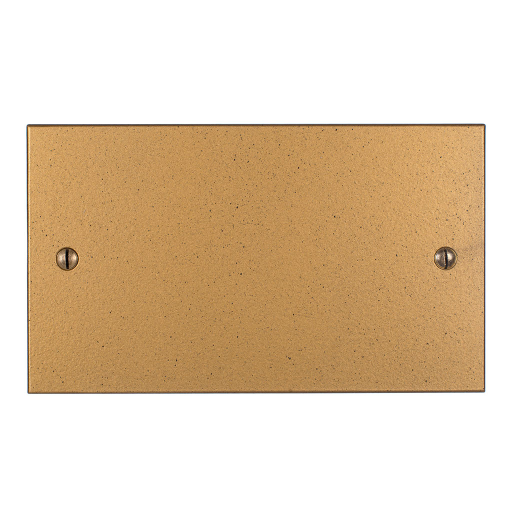 Double Blank Bevelled Plate in Old Gold
