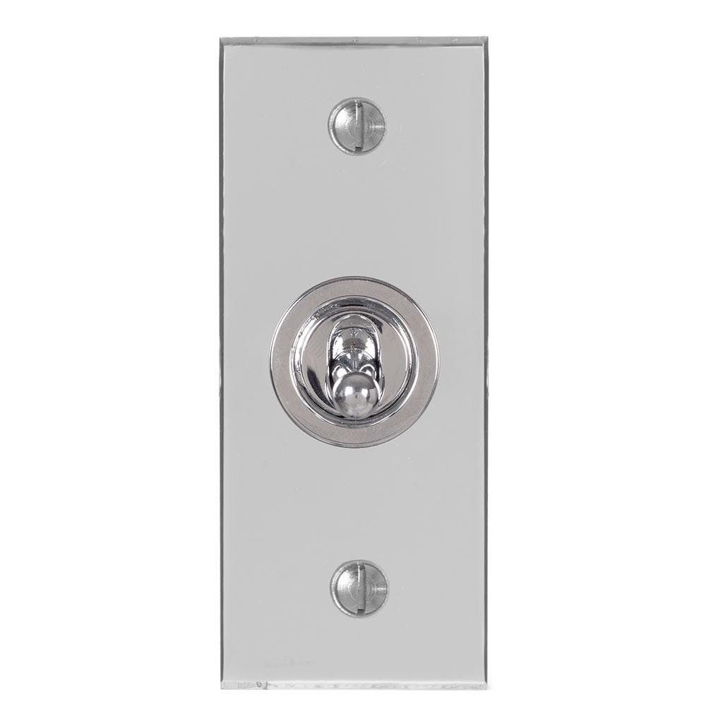 1 Gang Chrome Dolly Architrave Switch NickelBevelled Plate