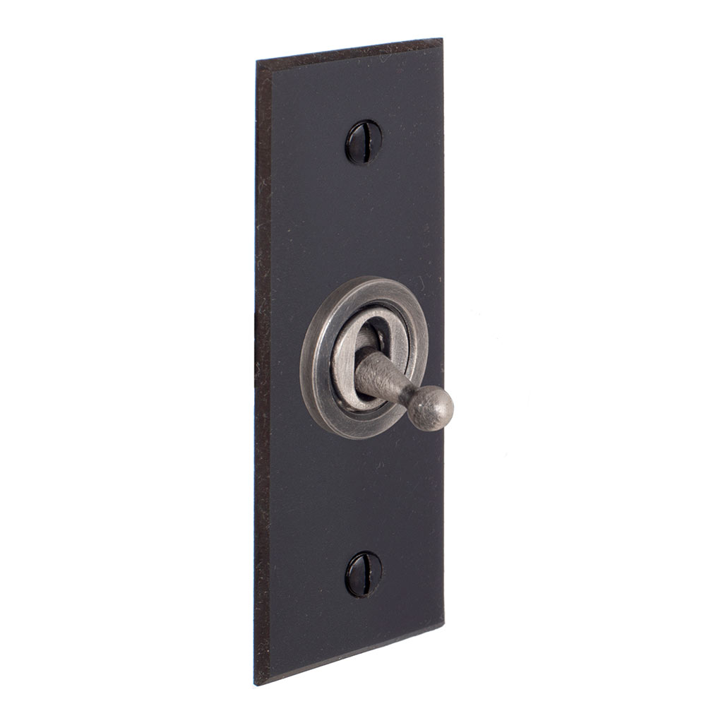 1 Gang Steel Dolly Architrave Switch Beeswax Bevelled Plate