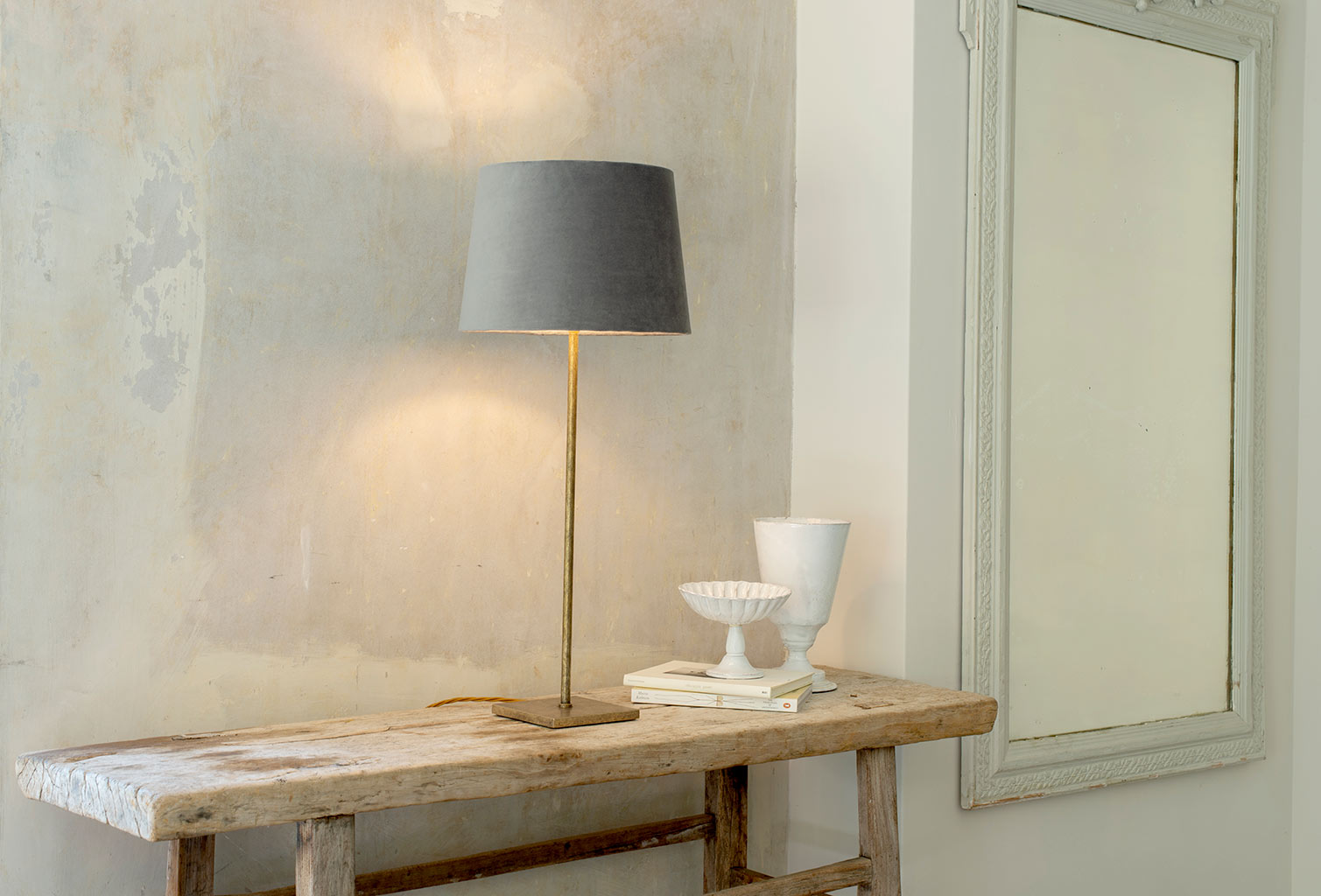 Porter Table Lamp in Antiqued Brass
