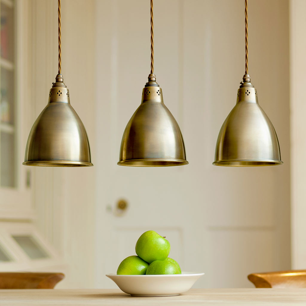 kitchen pendant lighting uk pendant lighting barbican stylish brass pendant light 5514