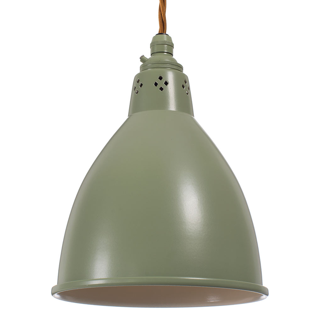 Barbican Pendant Light in Shaker Green
