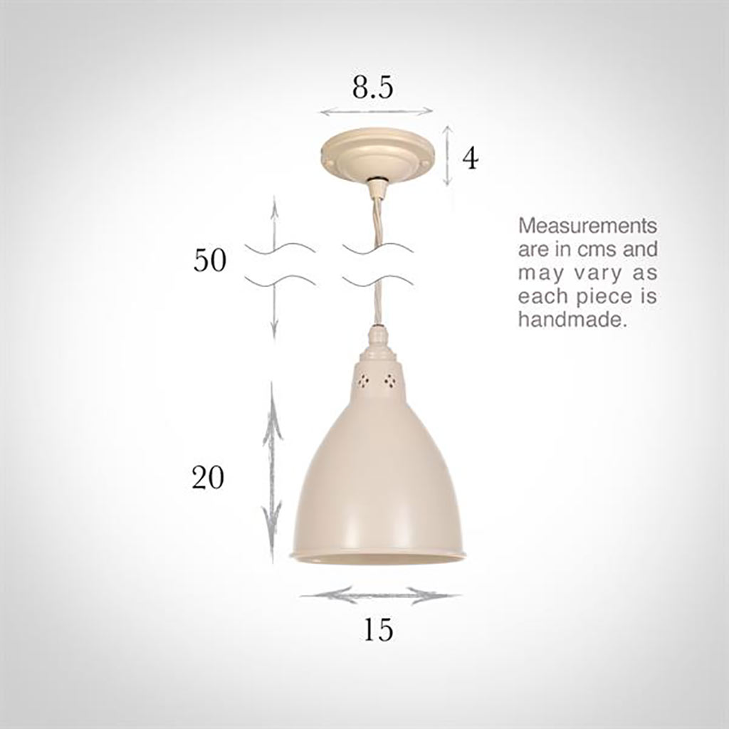 Barbican Pendant Light in Plain Ivory