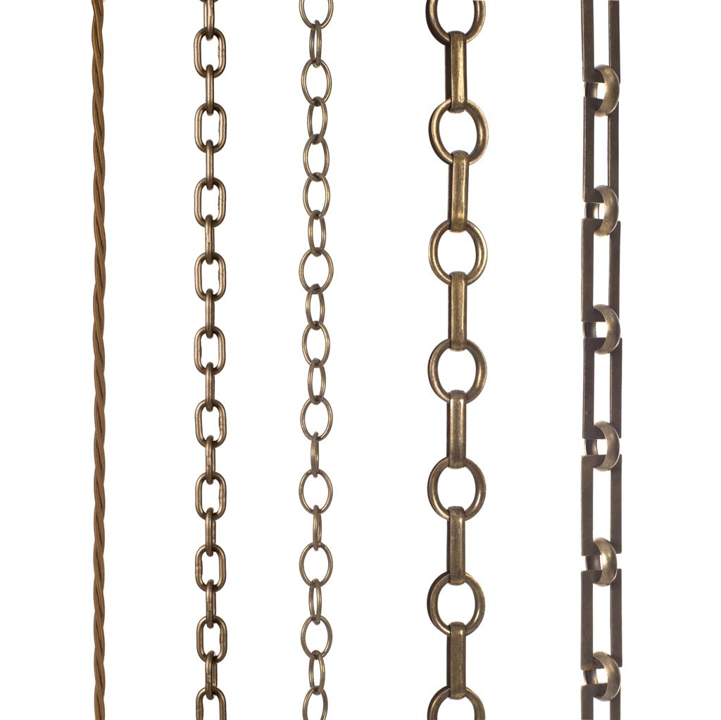 Square Link Chain in Antiqued Brass