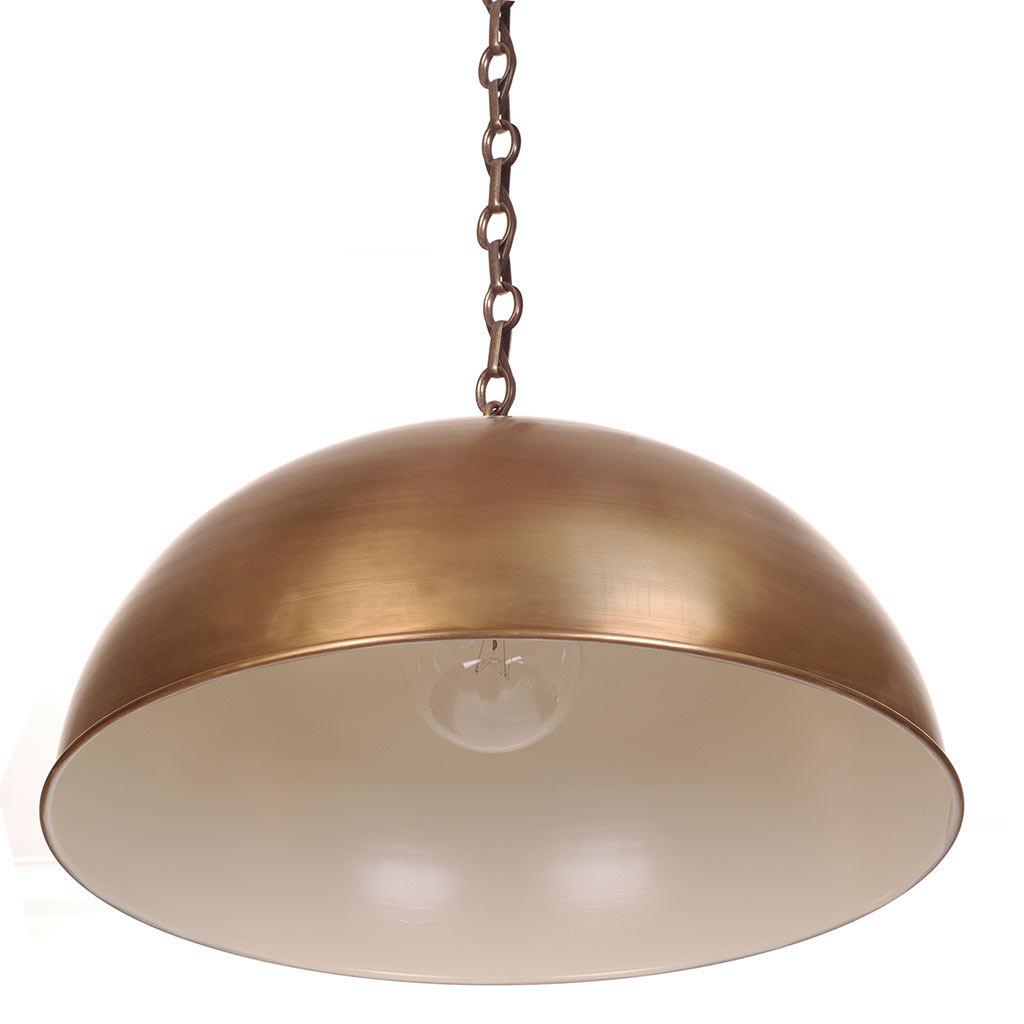 Highgate Pendant Light in Antiqued Brass