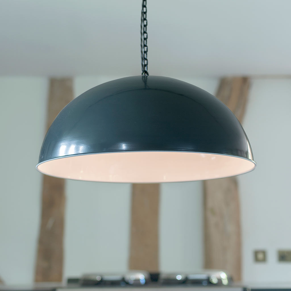 Highgate Pendant Light Shade in Slate Grey