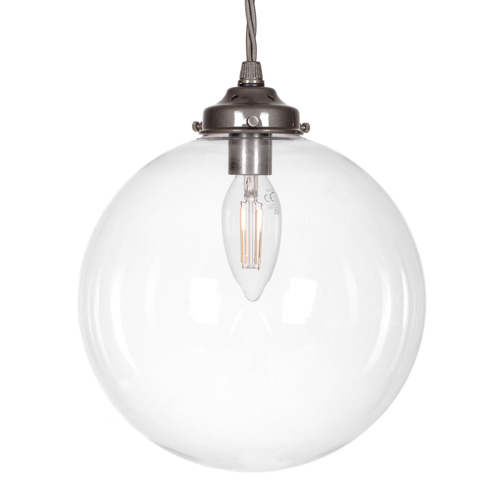 Holborn Glass Pendant Light in Polished