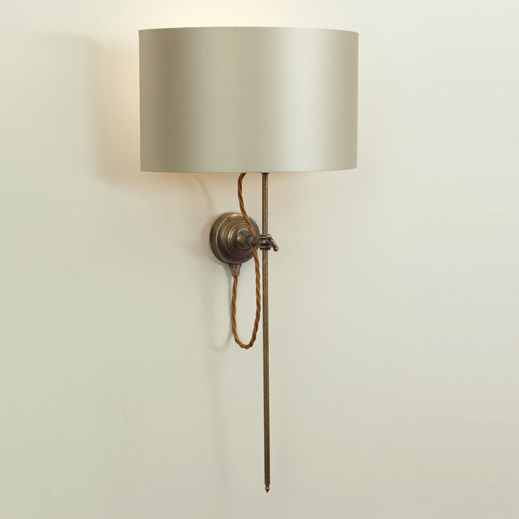Lymington Wall Light in Antiqued Brass