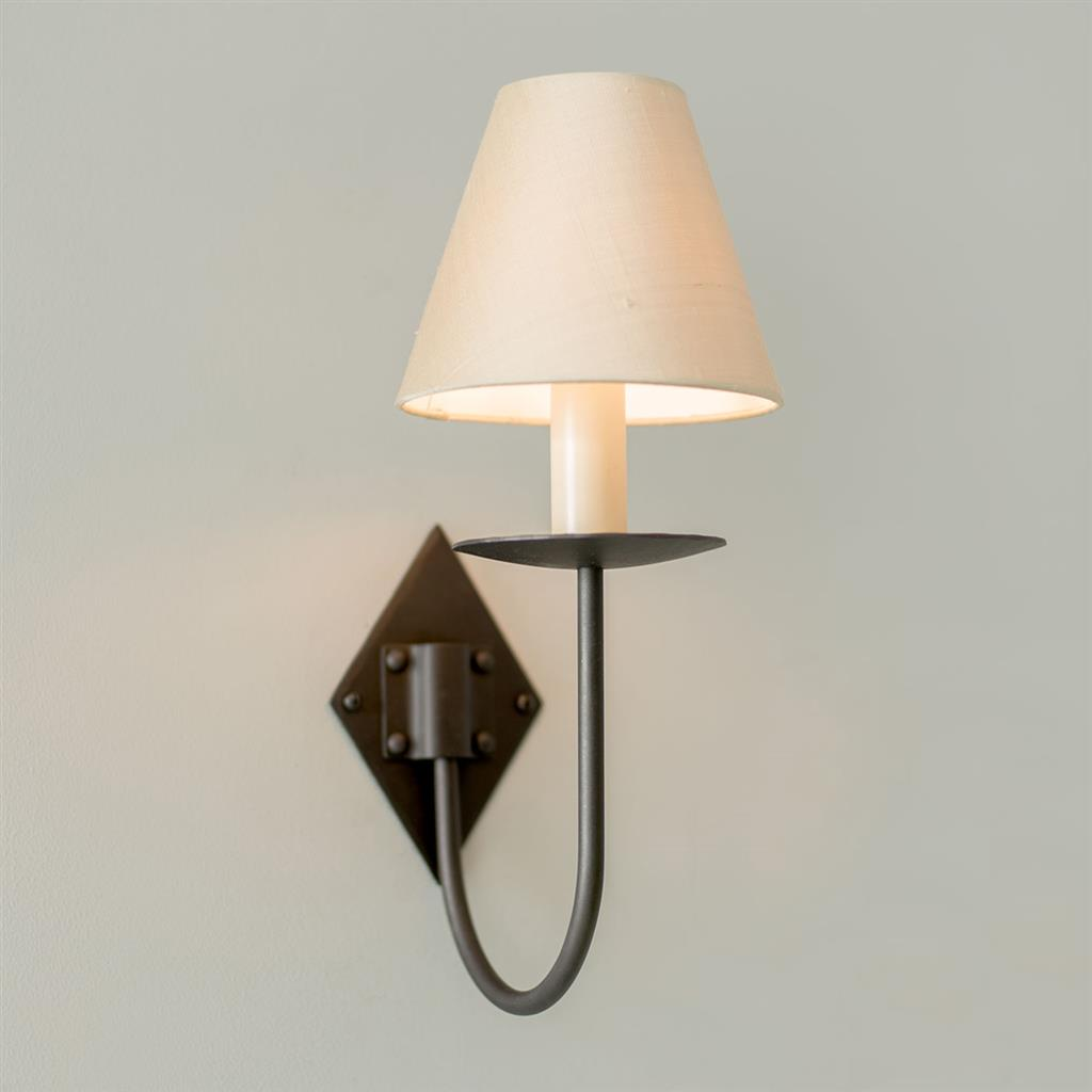 Single Diamond Wall Light in Beeswax