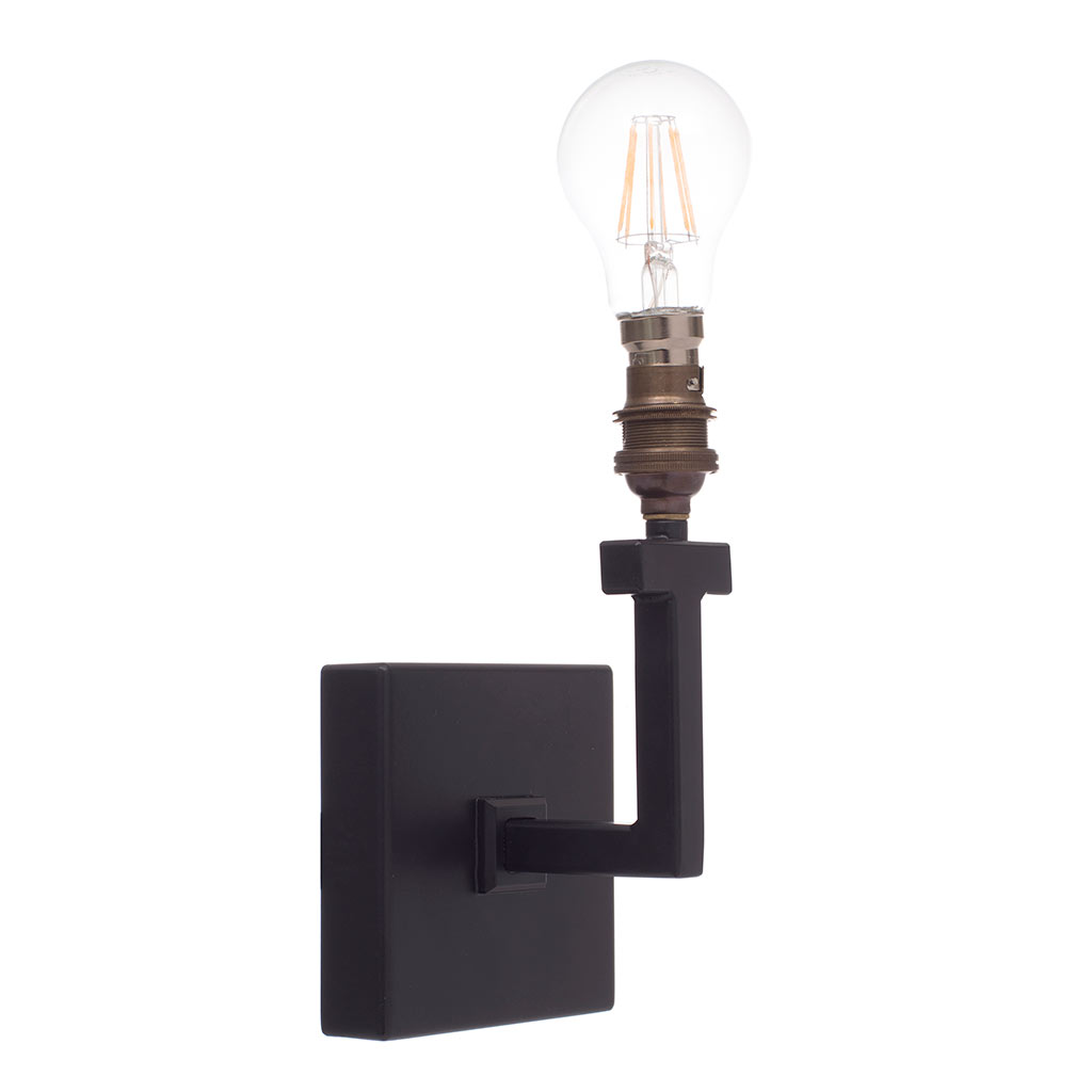 Gresham Wall Light in Matt Black