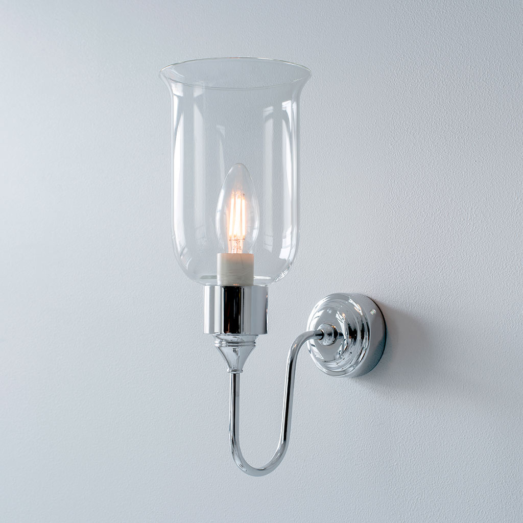 Chester Wall Light in Nickel
