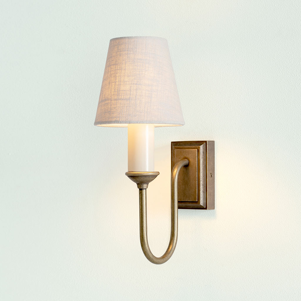 Rowsley Single Wall Light in Antiqued Brass