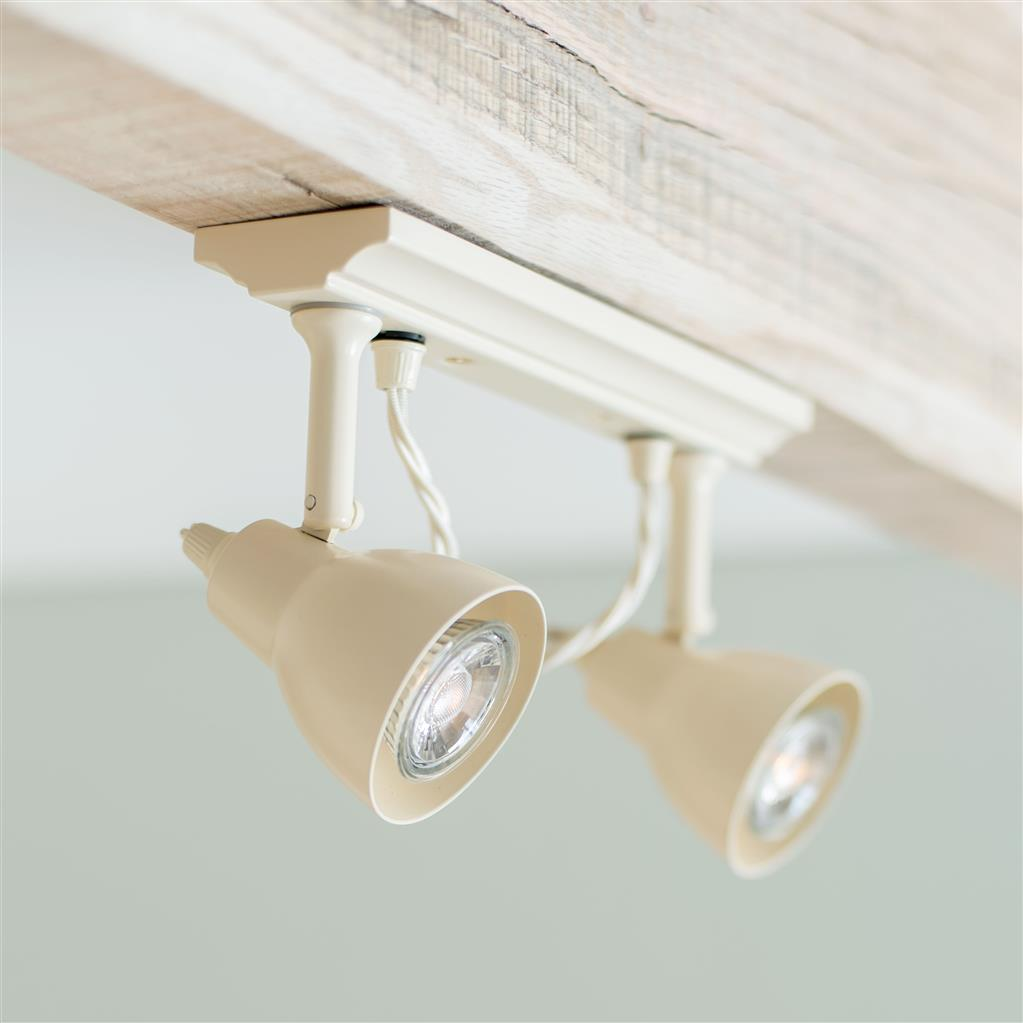 Edgeware Spotlight Strip in Plain Ivory - 2 Spots