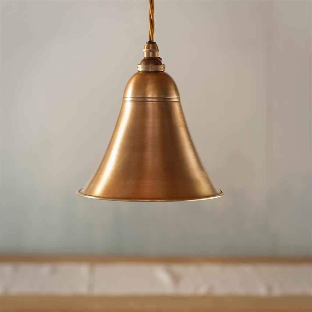 Boathouse Pendant Light in Antiqued Brass