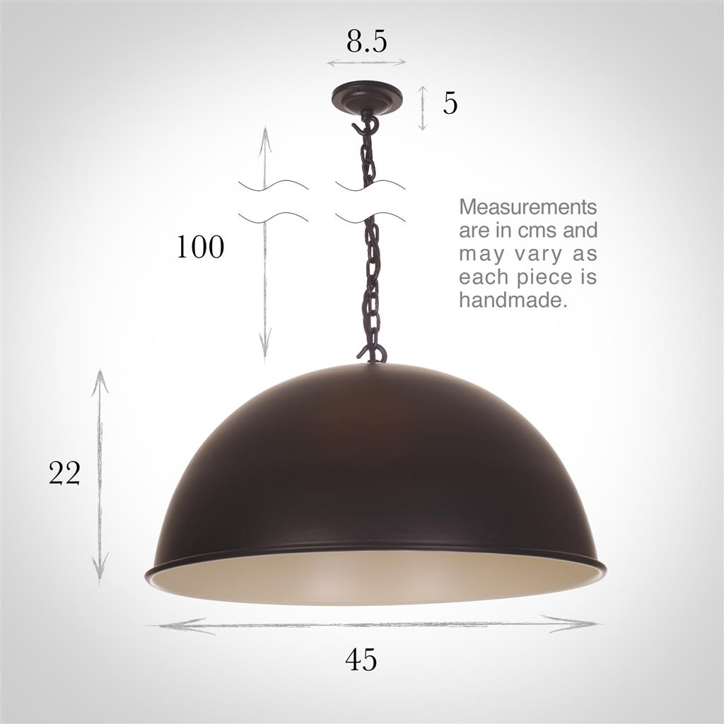 Leiston Pendant Light in Matt Black (PI interior)
