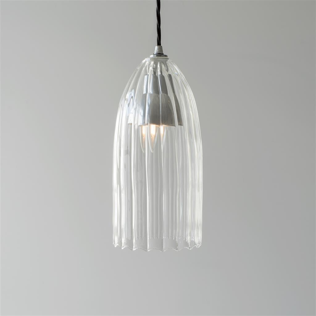 Thornton Glass Pendant Light in Mercury