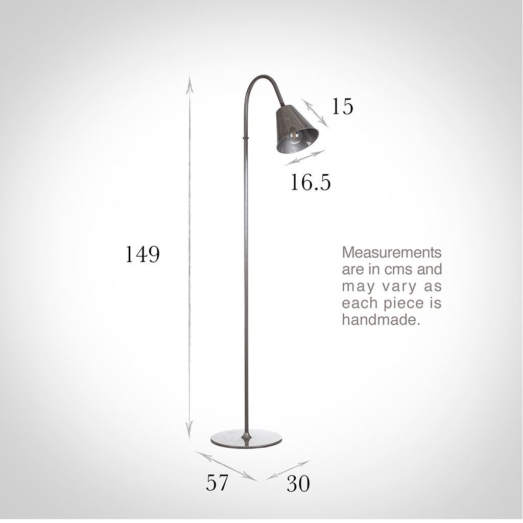 Ashwell Floor Lamp in Polished